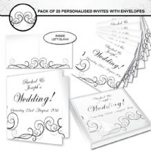 Wedding Swirl Invitations